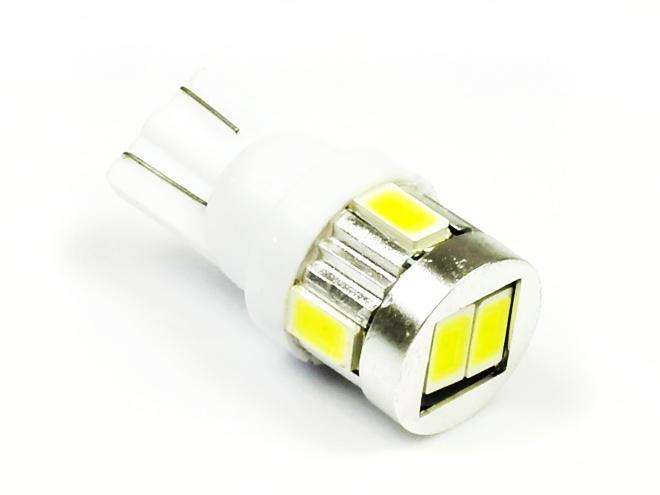 Interlook LED auto žárovka LED T10 W5W 6 SMD 5630 bílá